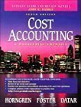 Cost Accounting: A Mangerial Emphasis