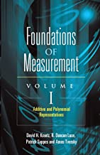 Foundations of Measurement: Additive and Polynomial Representations: 1