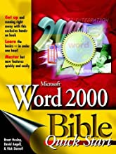 Microsoft Word 2000 Bible Quick Start