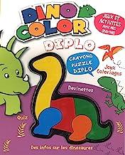 Dino Color Diplo: Jeux, activités et infos sur les dinosaures. Avec crayons-puzzles Diplo