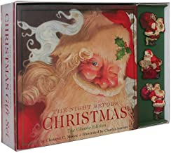 The Ultimate Night Before Christmas Ornament Set: Featuring the Hardcover Edition With 3 Ceramic Santa Ornaments