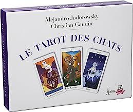 Coffret Le tarot des chats : Contient : 1 livret de 56 pages, 1 jeu de 22 cartes