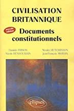 Civilisation britannique : Documents constitutionnels