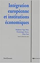 Intégration européenne et institutions économiques