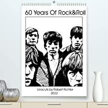 The Greatest Rock 'n Roll Band (Premium, hochwertiger DIN A2 Wandkalender 2022, Kunstdruck in Hochglanz): Linolportraits der dienstältesten Band der Welt (Monatskalender, 14 Seiten )