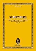 Schoenberg Funf Orchesterstucke Five Orchestral Pieces Op. 16