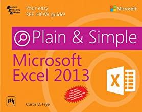 Microsoft Excel 2013 Plain & Simple
