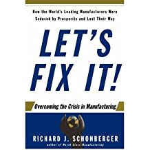 [Let's Fix It!: Overcoming the Crisis in Manufacturing] (By: Richard J. Schonberger) [published: June, 2007]