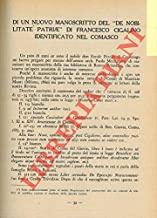 Di un nuovo manoscritto del ÒDe nobilitate patriaeÓ di Francesco Cigalino identificato nel comasco.